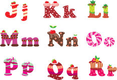Sweet letters of the alphabet Royalty Free Stock Photography