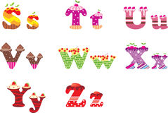 Sweet letters of the alphabet Stock Photo