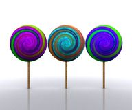 Sweet licks licks colorful - 3D Royalty Free Stock Images