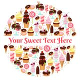 Sweet life element Royalty Free Stock Photos