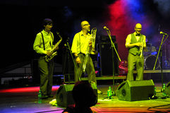 The Sweet Life Society band from Italy performs live on the stage Royalty Free Stock Photography
