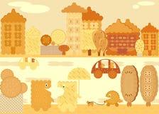 Sweet life, vector cookies Stock Images