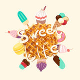 Sweet Life vector illustration Royalty Free Stock Images