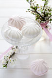 Sweet light pink and white marshmallow (zephyr) Royalty Free Stock Photo