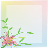 Sweet Lily Diary and notepad. A plain notepad for everyone to use with a pink Lily and rainbow frame Stock Photography