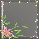Sweet Lily Diary and notepad. A plain notepad for everyone to use with a pink Lily and black flora background Royalty Free Stock Image