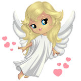 Sweet little angel. Flies above Royalty Free Stock Photo