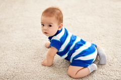 Sweet little asian baby boy stock photo
