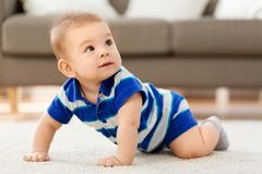 Sweet little asian baby boy stock image