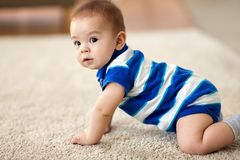 Sweet little asian baby boy royalty free stock photos