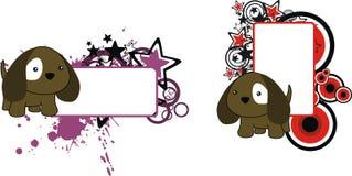 Sweet little baby puppy cartoon copyspace Royalty Free Stock Photo