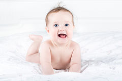 Sweet little baby with beautiful big eyes Stock Photo