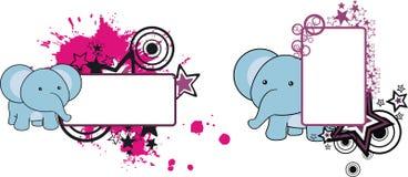 Sweet little baby elephant cartoon copyspace Stock Photos