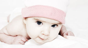 Sweet little baby in the hat Royalty Free Stock Photography