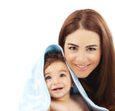Sweet little baby with mother Stock Photo