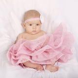 Sweet little ballerina on white background Stock Photos