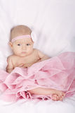Sweet little ballerina on white background Stock Image
