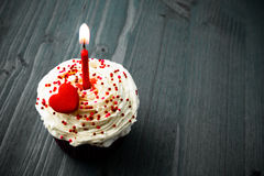 Sweet little birthday cake with candles Royalty Free Stock Photo
