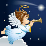 Sweet little christmas angel Royalty Free Stock Image