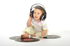 Sweet little dj Royalty Free Stock Images