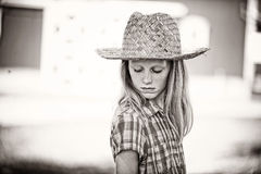 Sweet Little Farm Girl Royalty Free Stock Image