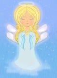Sweet little girl angel Praying Stock Photos
