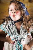Sweet little girl dressed as a traditional witch Royalty Free Stock Photography