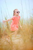 Sweet little girl outdoors Royalty Free Stock Photo
