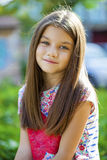 Sweet little girl outdoors Royalty Free Stock Image