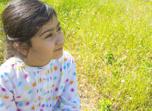 Sweet little girl outdoors Royalty Free Stock Photography