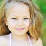 Sweet little girl portrait outdoors Royalty Free Stock Photography