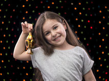 Sweet Little Girl with Ramadan Lantern Royalty Free Stock Image
