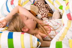 Sweet little girl sleeping Royalty Free Stock Photos