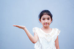 Sweet little girl with thai dress. Royalty Free Stock Images