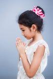 Sweet little girl with thai dress. Stock Photo