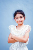 Sweet little girl with thai dress. Royalty Free Stock Photos