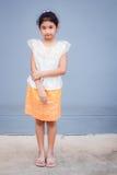 Sweet little girl with thai dress. Stock Photos