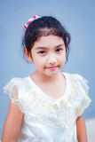 Sweet little girl with thai dress. Royalty Free Stock Photography