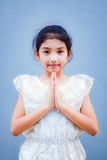 Sweet little girl with thai dress. Stock Image
