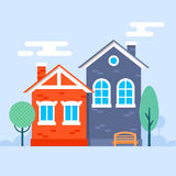 Sweet little houses Stock Images