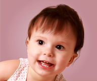 Sweet little baby vector portrait Stock Image