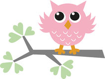 A sweet little pink owl Royalty Free Stock Image