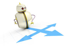 Sweet little robot Royalty Free Stock Photos