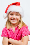 Sweet little Santa Stock Image
