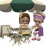 Sweet Little Waitress - Toon Figure Royalty Free Stock Photos