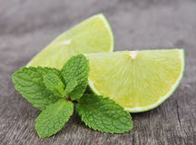 Sweet lobes lime with mint Stock Images
