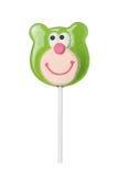 Sweet lollipop of a bear head Stock Image