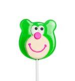 Sweet lollipop of a bear head Royalty Free Stock Image