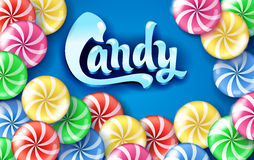 Sweet lollipop candy colorful background. Stock Photography