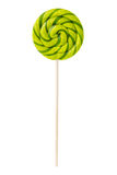 Sweet lollipop with green stripes Royalty Free Stock Photography
